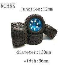 4 pcs RC car 1/10 HSP 12mm racing wheel rim tires diameter 1
