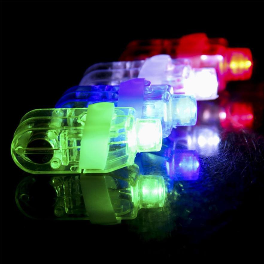 10PCS LED Light Up Flashing Finger Rings Glow Party Favors Kids Children Toys Z906