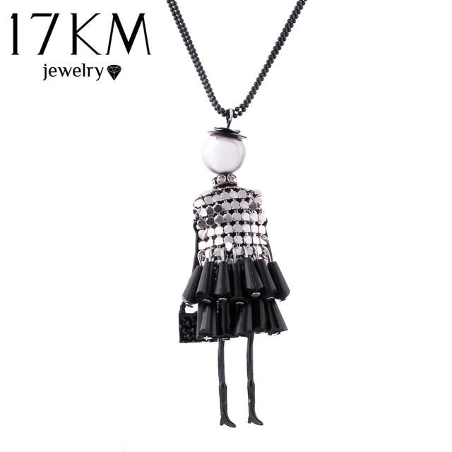 17KM Fashion doll Pendant Necklace Lovely Dress Doll Necklaces & Pendants Maxi c