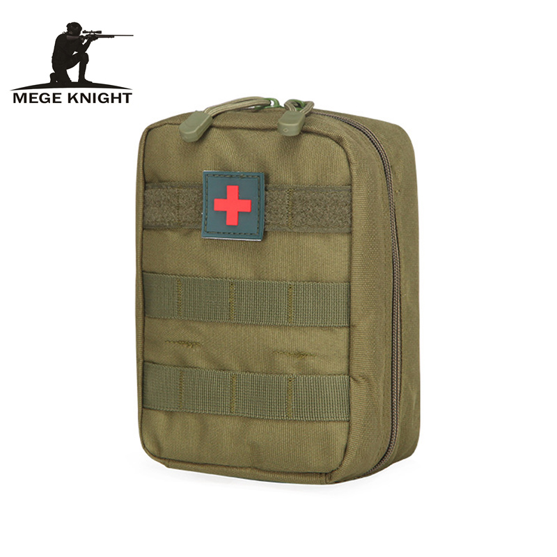 Mege Tactical Military Medical Bag Multifunctional Small Waist Molle Bag Oxford Waterproof First Aid Bag Survival Kit Bag Only