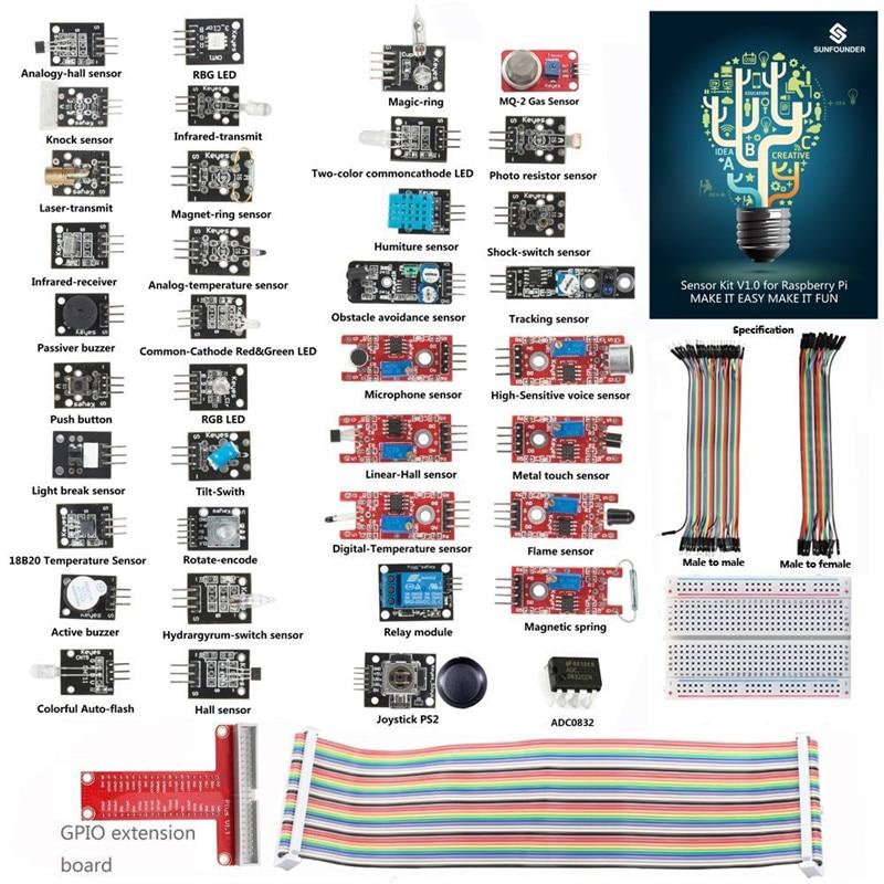 SunFounder Basic Sensor Kit for font b Raspberry b font font b Pi b font font