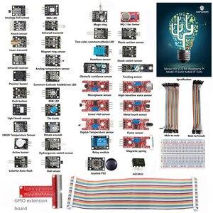 Image 1 - SunFounder Sensore di Base Kit per Raspberry Pi 3, 2 e rpi 1 modello b + con 40 spille gpio extension board fili di salto