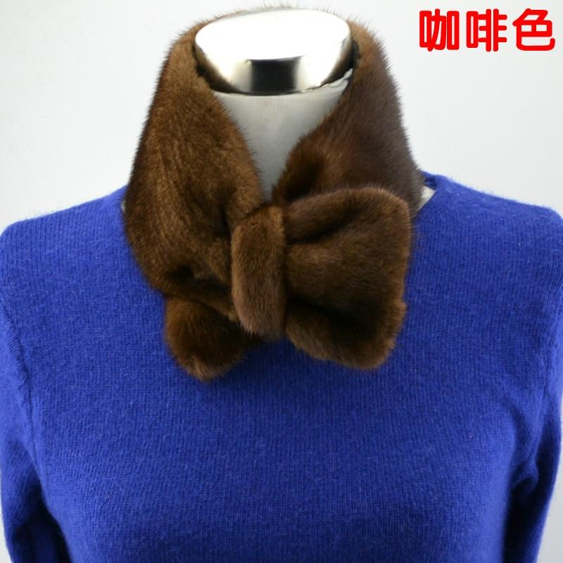 Femelle 2018new Arc Couleur noir blanc Vison gris Coréen Marron Japonais Collier Chaud Fourrure Écharpe rouge De r0z0Exqw