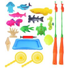 18 Pcs Bath Toys Set Double Pole Magnetism 2019 Fishing Toy New Children Education Intelligence Water Set Supplies 42*28cm(China)