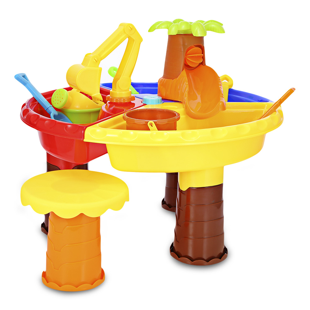 THE NORTH E HOME 9826 Kids Sand Water Round Table Beach Tools Toy Nice Gift For Baby