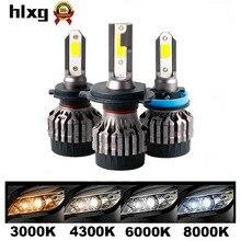 HLXG 2 шт. мини H4 Led H1 H7 автомобилей головной светильник 50 Вт 8000LM nebbia H8 H9 H11 9005 HB3 9006 HB4 6000K лампы светильник авто аксессуары