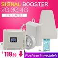 GSM 900 1800 WCDMA 2100 Tri-Band Booster 2G 3G 4G LTE 1800 70dB Handy Cellular signal Verstärker Handy Repeater für Russland