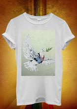 Banksy Peace War Pigeon Hipster Men Women Unisex T Shirt  Top Vest 455 New Shirts Funny Tops Tee