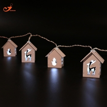 christmas light decor wooden home decoration deer snowman 10led wood room indoor lighting battery operated fairy party lights - Deer Christmas Lights