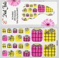 16 designs Stencil art Nail Stickers Decalques, minx 10 pcs etiqueta do prego unha de cuidados com os pés, pelicula decoração de unhas etiqueta do prego