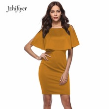 womens o neck knee dress spring mujer solid butterfly sleeve vestidos fashion femme formal dresses ol one piece