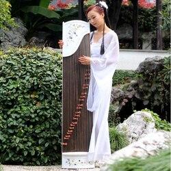 High-end Conchiglie Naturali Bianco Intagliare Guzheng Modello Intarsio A Mano Cetra Cinese 21 Strings Music Instrumment