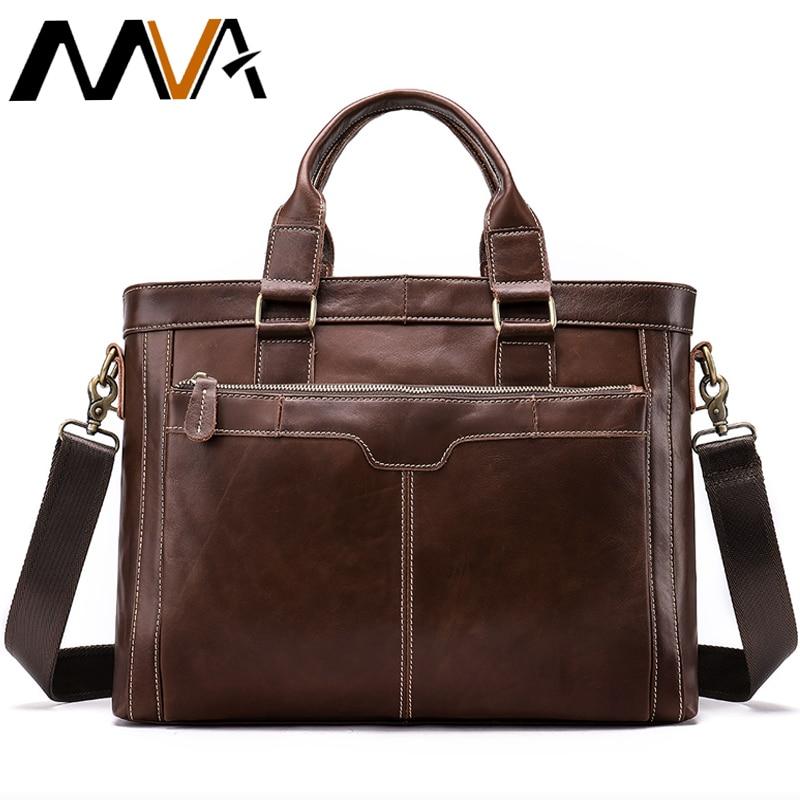 MVA Briefcase Male Bags Messenger Bag Men s Genuine Leather Men s Business Laptop Handbag Men