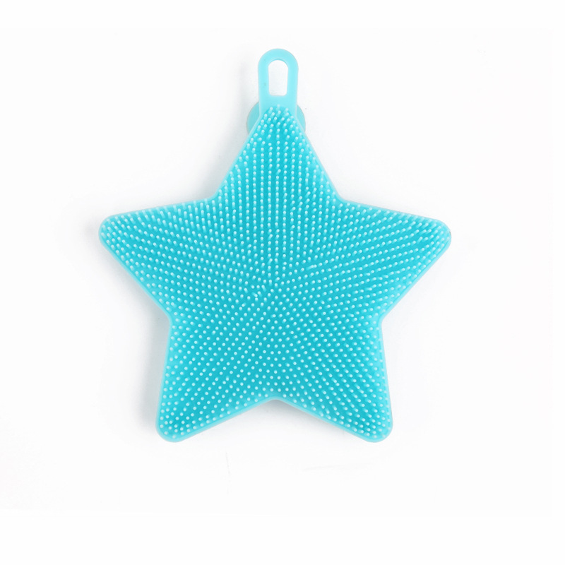 Silicone Dish Bowl Wash Brush Scouring Pad Fruit Vegetable Washing Cleaning Brushes With Sucker Hook Kitchen Tool HG99