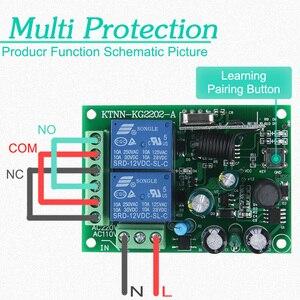 Image 3 - 433 Mhz Telecomando Universale Senza Fili Interruttore di Controllo AC220V 110V 2CH Relè Modulo Ricevitore & RF 433 Mhz per la Luce interruttore KTNNKG