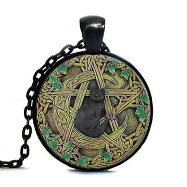 Wholesale glass dome tag black cat wicca tag pentagram wiccan wholesale glass dome tag black cat wicca tag pentagram wiccan jewelry charm aloadofball Choice Image