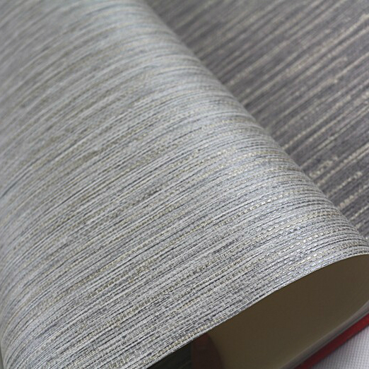 Realistic Faux Grasscloth Textured Wallpaper Metallic Horizontal