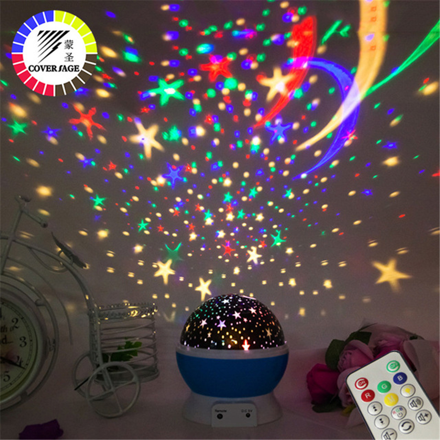Coversage Remote Controller Music Rotating Night Light Projector Spin Starry Star Master Children Kids Romantic Lamp Projection цена