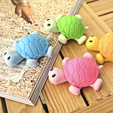3Pcs Kawaii 3D Tortoise Eraser Mini Colored Pencil Rubber Cartoon Toy for Kid Gift Creative Office Stationery School Supplies