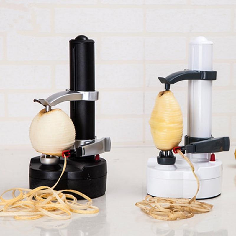 Новый электрическая спираль Apple Овощечистка резак Slicer фрукты картофель пилинг автоматического Батарея работает машина с зарядным устройст...