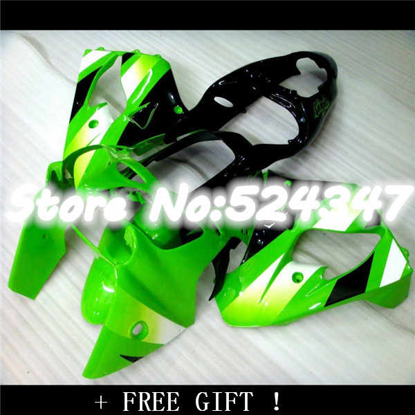 Nn-For Kawasaki ZX9R 2000 2001 green black 00-01 Ninja 2000 2001 zx 9r ZX-9R 00 01 ABS Fairing Set Plastic Kit for Ninja