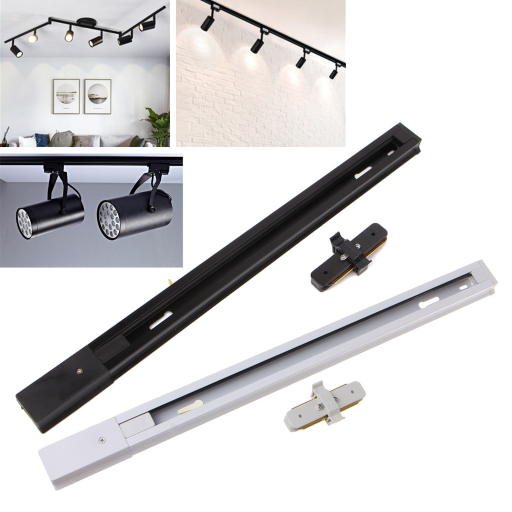 HNGCHOIGE 2Pcs Aluminum LED Track Light With Connector Universal Rail Aluminum Track Light
