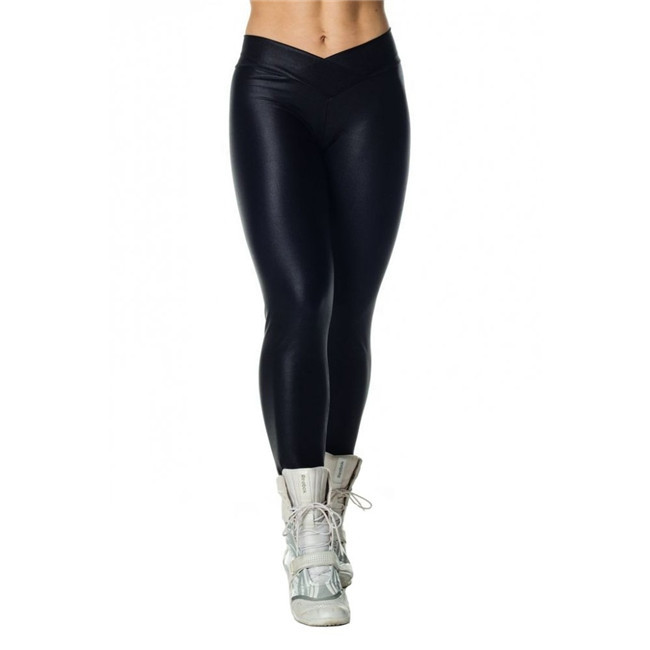 BLACK New Fashion Sexy Woman Capri New Pants Tall Waist Clipping Stretch Exercise Trousers Transparent Leggings