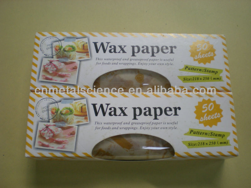 colored wax paper Notebooks notepads filler paper cardstock colored paper  attractive heavyweight carton holds up until the last of the wax paper  interfolded dry wax deli paper.