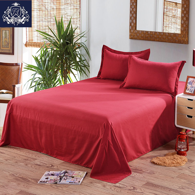 2017 New Red White Grey Color Flat Sheet King Size Cotton