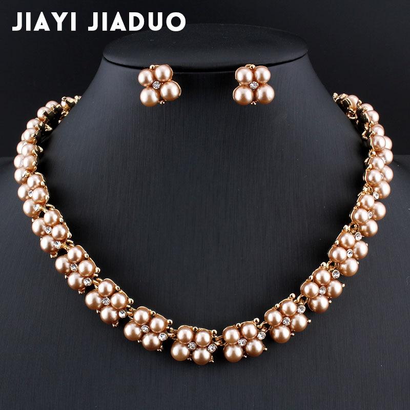 White Wedding Dress Gold Jewelry: Jiayijiaduo 2017 Wedding Jewelry Set For Women Dress