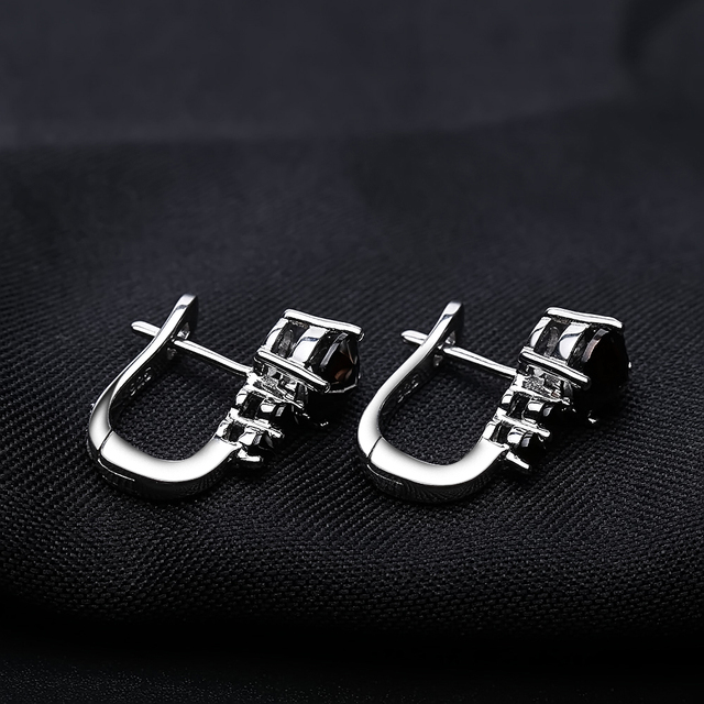 Gem's Ballet Natural Black Garnet Cip Earrings 925 sterling silver Water Drop Gemstone Fine Jewelry Accessories For Women Gift-in Earrings from Jewelry & Accessories on Aliexpress.com | Alibaba Group