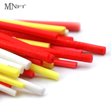 MNFT 10Pcs 2.5/3.3/3.7/4.5mm High Density Cylinder Foam for Fishing Float DIY Making Fly Tying Rig Red Yellow White