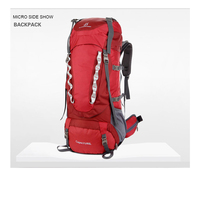 Outdoor bag Travel Rucksack Climbing Equipment 80L bags Removable suspension support Camping Hiking Backpack for Men Women
