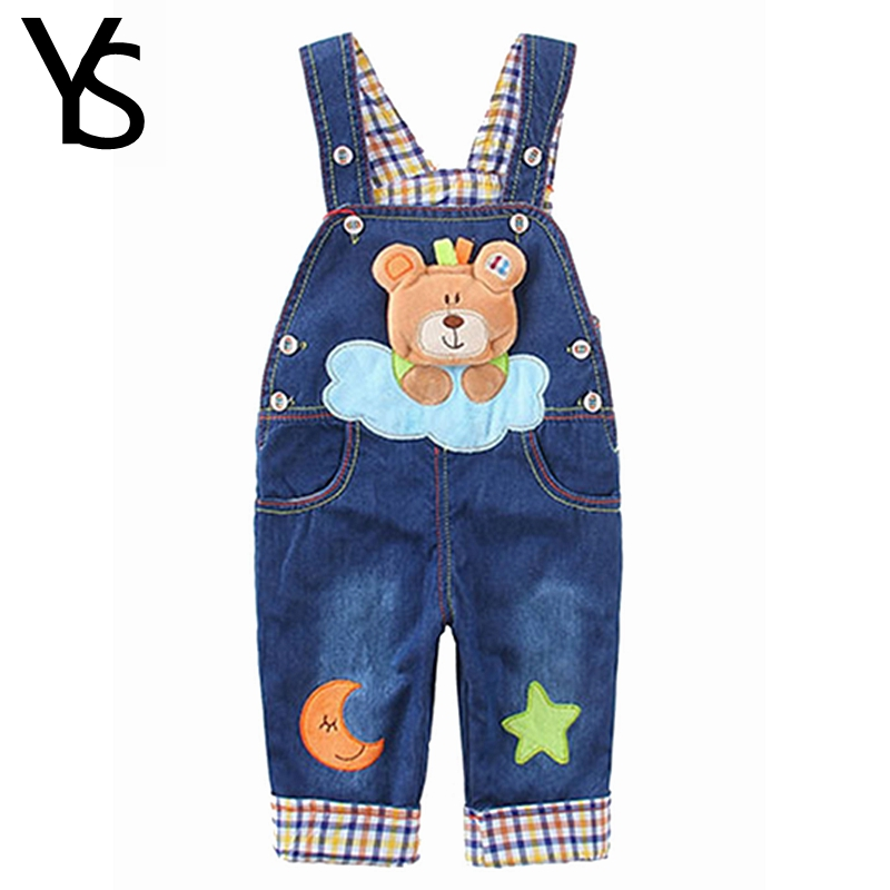 3 24M Top Quality 100 Cotton Infant Baby Boys Overalls For Spring Autumn Jeans Rompers Toddler