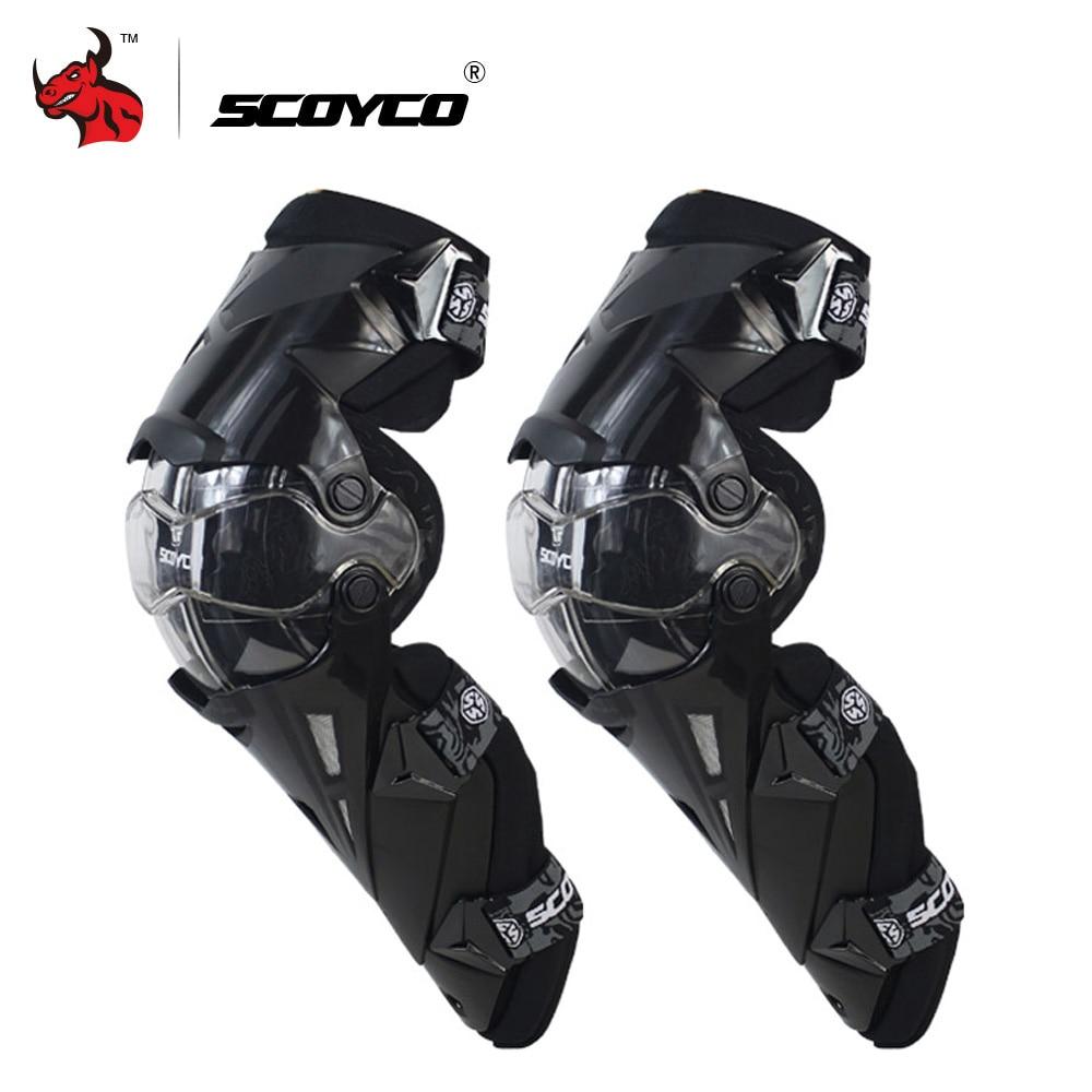 SCOYCO Motocicleta Joelho Pad CE Joelheiras de Proteção Da Motocicleta de Motocross Corrida de Engrenagens Do Motor-Racing Guardas de Segurança Do Joelho Brace