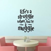 Life Is A Struggle Harry Potter Quotes Wall Sticker Teens Room Decals Decor DIY