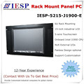 15 inch rack mount industrial panel PC, J1900 CPU, 4GB DDR3,500GB HDD, sunlight readable LCD optional