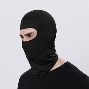 Image 3 - Motorcycle Balaclava Full Face Mask Warmer Windproof Breathable Airsoft Paintball Cycling Ski Shield Anti UV Men Sun Hats Helmet