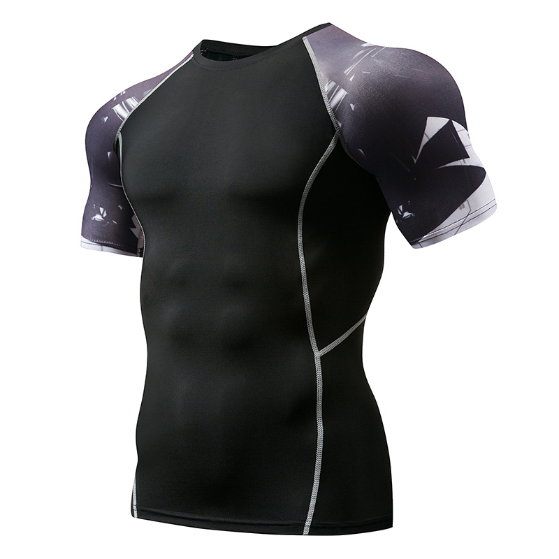Mens Compression Shirts 3D Teen Wolf Jerseys Long Sleeve T Shirt Fitness Men Lycra MMA  T-Shirts Tights Brand Clothing