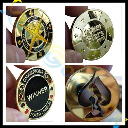 commemorative coins Metal banker porker star Card Guard Protector Metal Craft Poker Chips Poker Game Hold'em Accessories