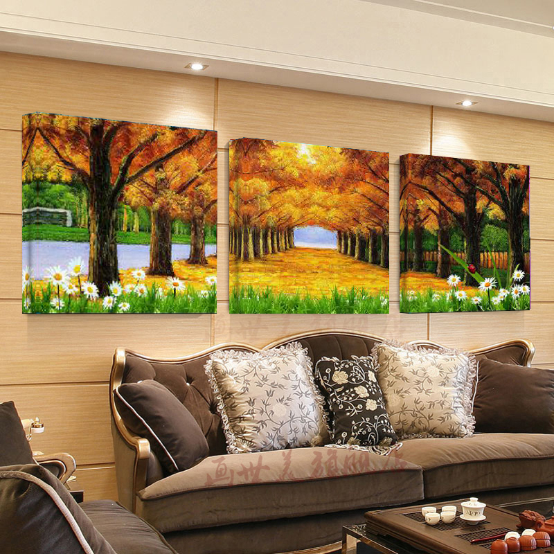 No Frame Gold road without frame painting wall art canvas painting pictures  for living room picturePopular Gold Framed Paintings Buy Cheap Gold Framed Paintings lots  . Framed Pictures For Living Room. Home Design Ideas