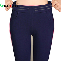 Guoran Large Size 5XL 6XL Women Pant Elastic Waist Female Pencil Pants Office Work Trousers