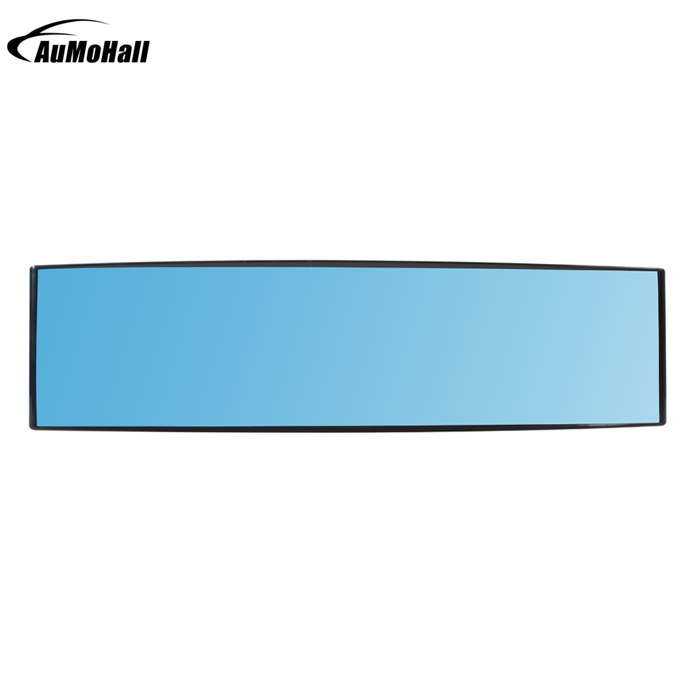 Car Blue Rearview Mirror Auto Reverse Back Parking Reference Rear Dimming Mirrors Wide