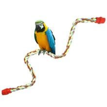 Bird Toy Pet Parrot Rope Cockatiel Parakeet Conure Cage Standing Perch Chew Peck 17/21/32