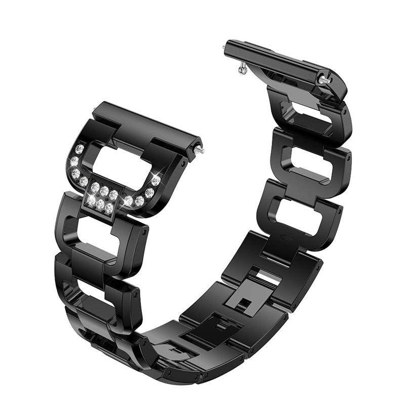 Strap accessories Fashion D Word Crystal Metal Watch Band Wrist Strap For Fitbit Versa Lite Smart Watch Band Strap 2019 Newest in Smart Accessories from Consumer Electronics