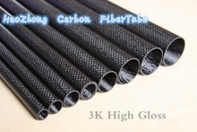 1000mm 3k Carbon Fiber Tube 24mm 25mm 26mm 27mm 28mm 29mm 30mm 32mm 33mm 34mm (Roll Wrapped) Light Weight, High Strength