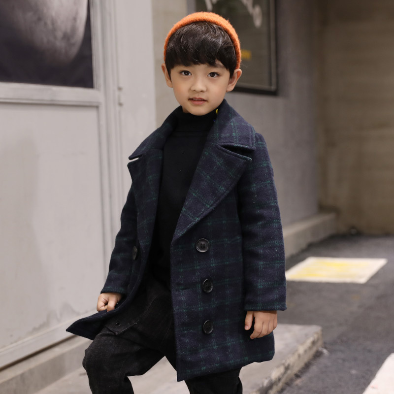 Boys Jackets 2018 Winter Warm Thick Toddler Boy Coat Plaid Suit For Big Boy 5 6 7 8 9 10 11 12 13 Years Thick Teenagers Outwear in Jackets Coats from Mother Kids