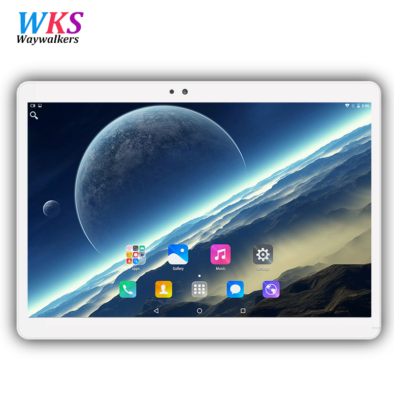 Il trasporto libero 10.1 pollice tablet pc Android 6.0 RAM 4 GB ROM 32/64 GB Dual SIM Bluetooth GPS 1920*1200 IPS telefono Astuto tablet pc MT8752