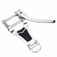 Chrome Tremolo Vibrato Bridge Tailpiece Hollowbody Archtop For Guitar M08