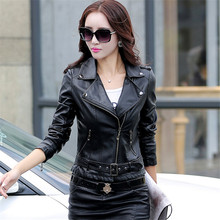 New Style Genuine Leather Jacket Women 2016 Fashion Slim Plus Size Skeepskin Coat Casual Short Motorcycle Jacket